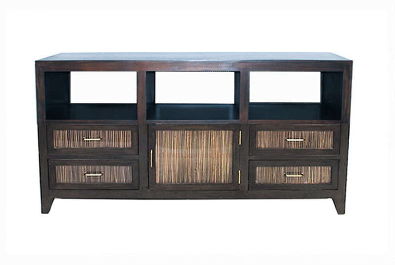 FB-5033-2 BUFFET CABINET W TIKI GLASS